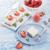 fatia · delicioso · morango · bolo · de · queijo · bolo · sobremesa - foto stock © dar1930