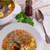 leves · ürü · hús · árpa · zöldségek · sárgarépa - stock fotó © dar1930