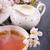 茶 · ガラス · ティーポット · 白 · 食品 · バラ - ストックフォト © dar1930