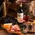 prato · salame · carne · tabela - foto stock © dar1930