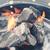燃焼 · 木材 · 石炭 · 暖炉 · クローズアップ · ホット - ストックフォト © dar1930