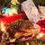 christmas · gans · diner · vers · fruit · salie · geserveerd - stockfoto © dar1930