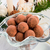 marcipán · krumpli · krumpli · golyók · fahéj · por - stock fotó © dar1930