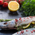焼き · サバ · アスパラガス · 魚 · レストラン · 緑 - ストックフォト © dar1930