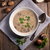 romig · champignon · soep · voedsel · achtergrond · groene - stockfoto © Dar1930