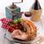 サラダ · 魚 · フルーツ · 乳がん · プレート · 肉 - ストックフォト © dar1930