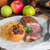 eend · aardappel · houten · plaat · handen · christmas - stockfoto © dar1930