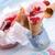 caseiro · hortelã-pimenta · sorvete · coração · foco - foto stock © dar1930