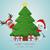 северный · олень · снеговик · за · дерево · подарки · рождественская · елка - Сток-фото © dariusl
