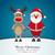 karácsony · karakter · mikulás · hóember · rénszarvas · betűk - stock fotó © dariusl