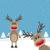 deux · rennes · rouge · nez · neige · fond - photo stock © dariusl