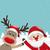 kerstman · gelukkig · cartoon · hand - stockfoto © dariusl