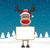 トナカイ · 赤 · 鼻 · 帽子 · サンタクロース · 幸せ - ストックフォト © dariusl