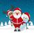 トナカイ · 赤 · 鼻 · サンタクロース · 雪だるま · 見 - ストックフォト © dariusl