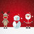 christmas · karakter · kerstman · sneeuwpop · rendier - stockfoto © dariusl