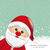 santa red hat snow snowflake background stock photo © dariusl