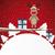 kırmızı · Noel · top · mavi · sanat · kar - stok fotoğraf © dariusl