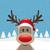 トナカイ · 赤 · 鼻 · サンタクロース · 帽子 · 背景 - ストックフォト © dariusl