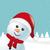 雪だるま · スカーフ · サンタクロース · 帽子 · 幸せ · 背景 - ストックフォト © dariusl