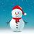 snowman scarf hat blue snow background stock photo © dariusl