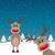 2 · トナカイ · 赤 · 鼻 · 雪 · 背景 - ストックフォト © dariusl