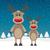 2 · トナカイ · 赤 · 鼻 · 雪 · 家族 - ストックフォト © dariusl