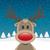 トナカイ · 赤 · 鼻 · 1 · 雪 · 背景 - ストックフォト © dariusl