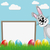 easter bunny behind signboard stock photo © dariusl