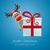 rendier · kerstman · christmas · geschenkdoos · Rood · vak - stockfoto © dariusl