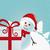 snowman behind gift white winter landscape stock photo © dariusl