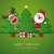 トナカイ · サンタクロース · クリスマスツリー · ギフト · ギフトボックス · 背景 - ストックフォト © dariusl