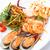mariscos · picante · ensalada · blanco · placa · peces - foto stock © darkkong