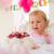 sevimli · küçük · kız · yeme · doğum · günü · pastası · açık · havada · yaz - stok fotoğraf © dash