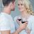 красивый · мужчина · стекла · вино · улыбаясь · девушки · лице - Сток-фото © dash