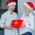 若い女性 · 意外 · 夫 · クリスマス · クリスマス · カラフル - ストックフォト © dash
