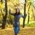 beleza · outono · bela · mulher · tempo · parque - foto stock © dash