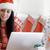 online · karácsony · vásárlás · piros · számítógép · belépés - stock fotó © dash