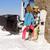 couple kissing behind ski resort garage stock photo © dash