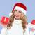 donna · sorridente · Hat · Natale · regali - foto d'archivio © dash