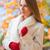 молодые · красивая · девушка · расстояние · Открытый · волос - Сток-фото © dash