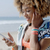 girl listening to the music from a smart phone stock photo © dash
