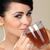 atrakcyjna · kobieta · pitnej · herbaty · portret · szkła - zdjęcia stock © dash