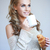 Beautiful woman enjoying a coffee break stock photo © dash