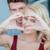 szerelmespár · kezek · együtt · forma · szív · szeretet - stock fotó © dash