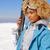jonge · vrouw · vrouw · gelukkig · sneeuw · ski · jonge - stockfoto © dash