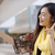 vrouw · zelfportret · tablet · gelukkig · volwassen - stockfoto © dash