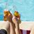 カップル · 2 · 緑 · ビール · ボトル · 座って - ストックフォト © dash