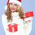 pretty · woman · Hat · Natale · regali - foto d'archivio © dash