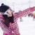 mutlu · kış · kız · Kayak · ceket · portre - stok fotoğraf © dash