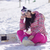 gülen · genç · kadın · kış · elbise · mutluluk · tatil - stok fotoğraf © dash